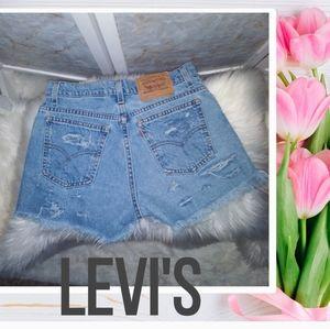 Levi's 910 Shorts Cut Offs size 9
